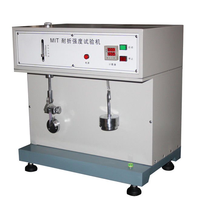 Automatic Paper Testing Equipments , Cardboard / Aluminium - Foil Paper Folding Endurance Tester